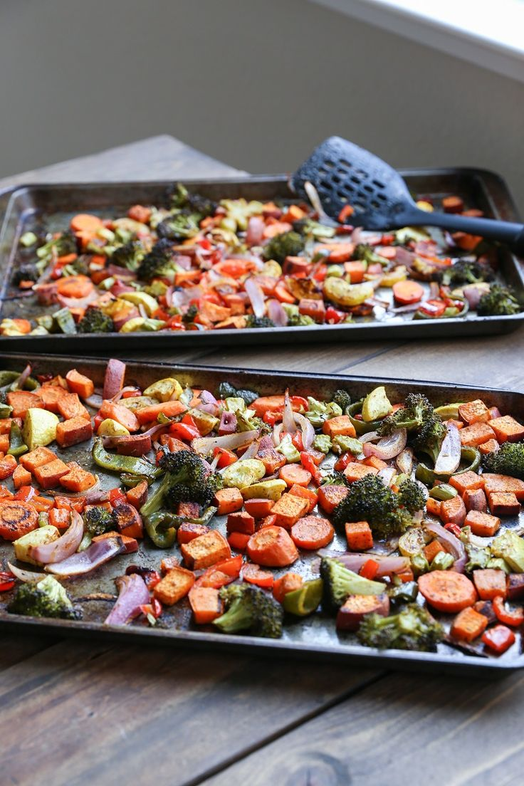 A basic recipe for roasted vegetables that never fails to impress! This healthy and delicious side dish is perfect for meal prepping or serving a group of people. In all likelihood, if I've made you dinner, I've made us roasted ... :: Food