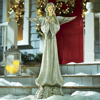 Add a touch of holiday magic to your outdoor decor with our Peaceful - outdoor angel christmas decorations