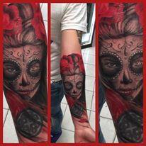 Tatuaje catrina,tatuajes,catrinas, lagrima tattoo, catrina tattoo, mexican tattoo, tatuador sebastian ruz Dominguez, chileno +6696211870