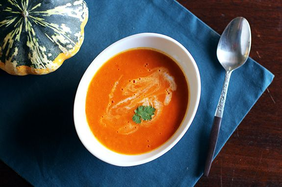 Roasted Tomato, Squash & Coconut Milk Bisque