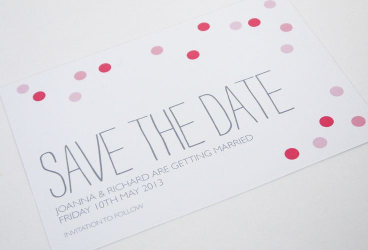 Confetti Wedding Invitation range save the date sarahcoll.com