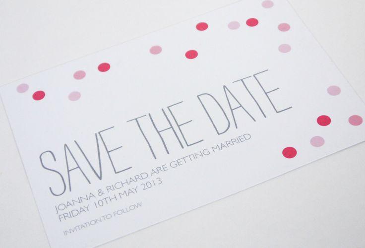 Confetti Wedding Invitation range save the date sarahcoll.com