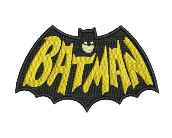 BATMAN Sign Machine Filled Embroidery  Instant Digital