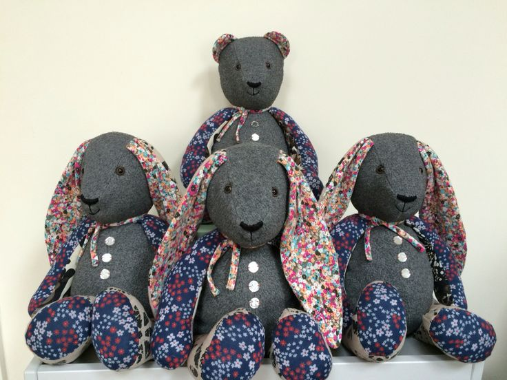 Little Grey memory bunnies and bear