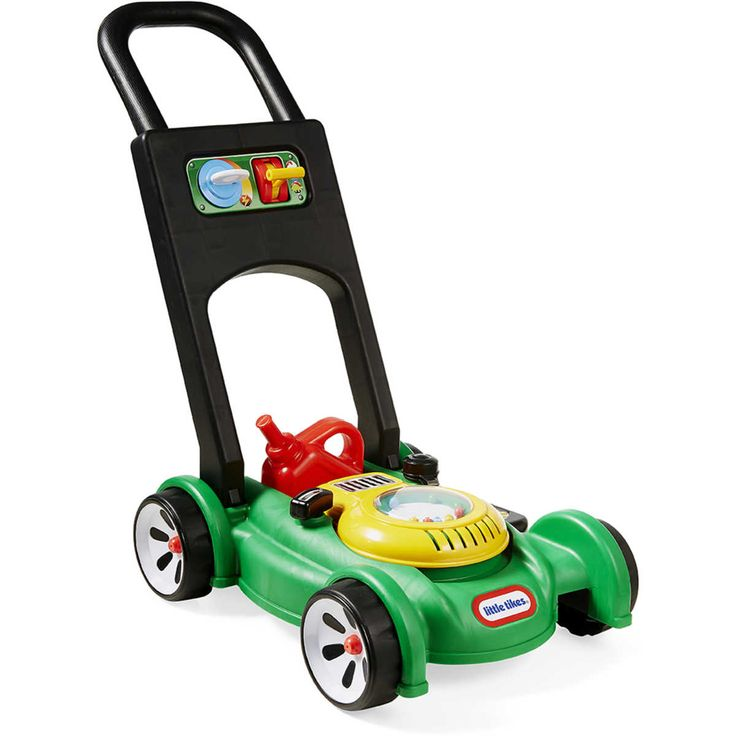 This Little Tikes Gas & Go Mower looks like the real thing. This outdoor toy comes with everything you need to keep the yard around your playhouse looking sharp. The sounds and hands-on features of this kids lawn mower encourage pretend play and get kid's moving and mowing.