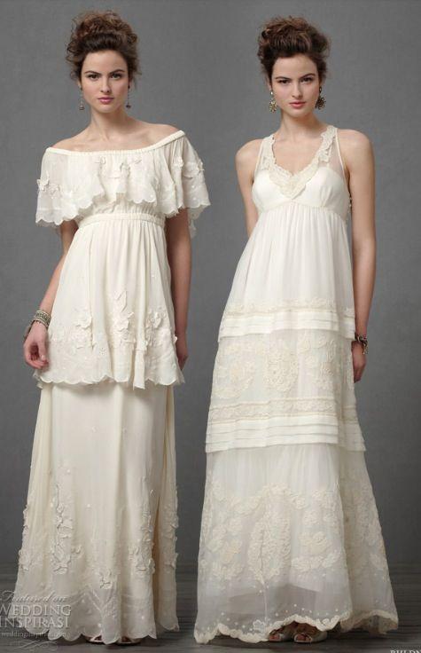 Hippie wedding dresses