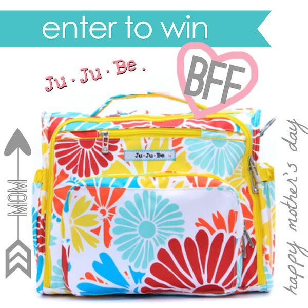 JuJuBe's amazing BFF backpack diaper bag.