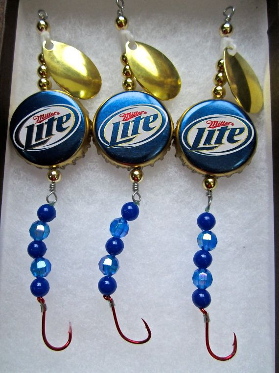Miller Light Fishing Lures Gifts for Men or by AudaciousApproach, $15.00