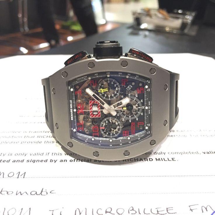 Richard Mille [2016年二手如新][2016' LIKE-NEW] RM 011 Felipe Massa Sandblast Titanium Watch   OUR PRICE 售價: HK$755,000.   #richardmille #RM #richard_mille #RM011 #RM11  #RM011Sandblast #RM_011_Sandblast #RM11Sandblast #RM_11_Sandblast