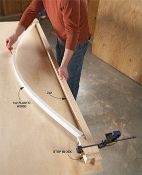 How to Cut Curves in Wood | The Family Handyman - just in case my hubs needs this to help me with one of my projects haha