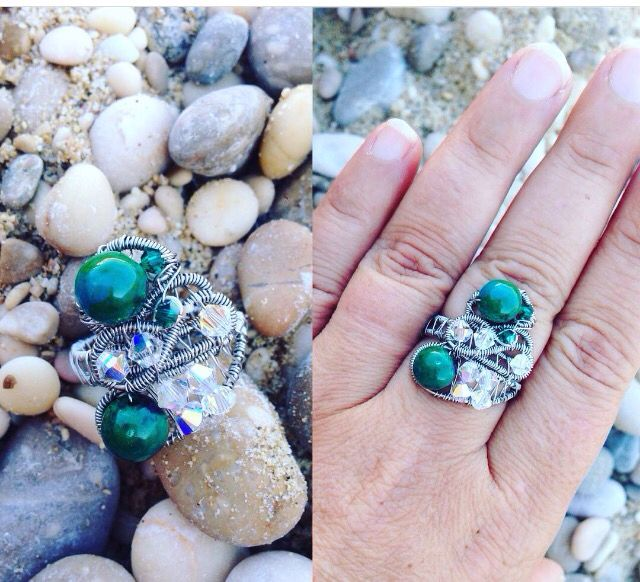 Chrysocole ring by Zojani