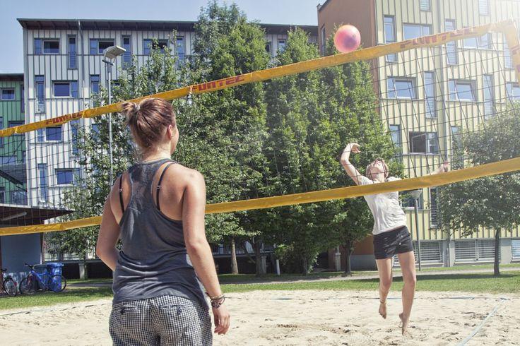 Beach volleyball court  http://www.kolpinghaus-salzburg.at/sport-activities-salzburg.html