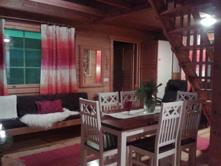 Olohuone, mökki 17. Livingroom area, cabin 17.
