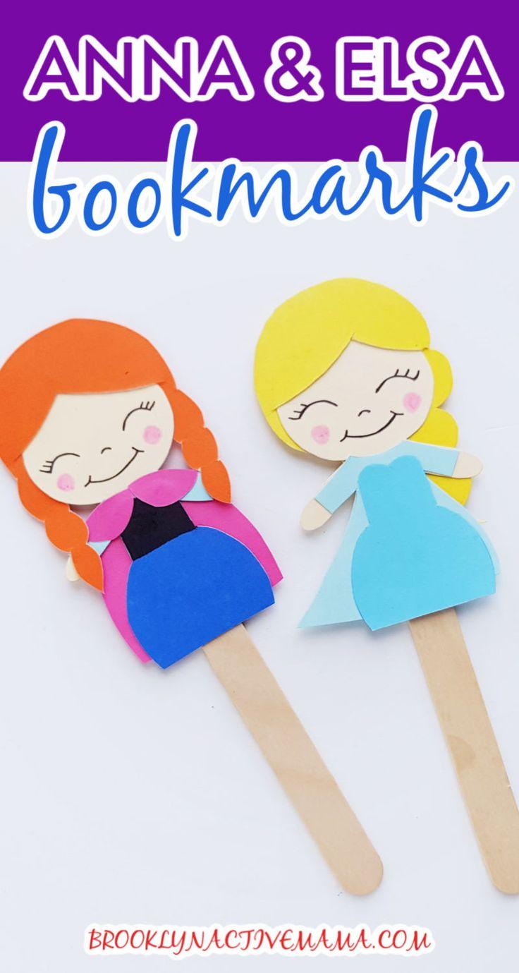 Fun & Easy Disney Frozen DIY Bookmark Craft For Kids (2020