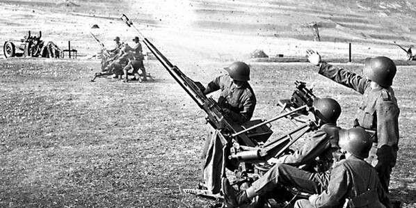 Swiss Army Oerlikon 20 mm AA gun - pin by Paolo Marzioli