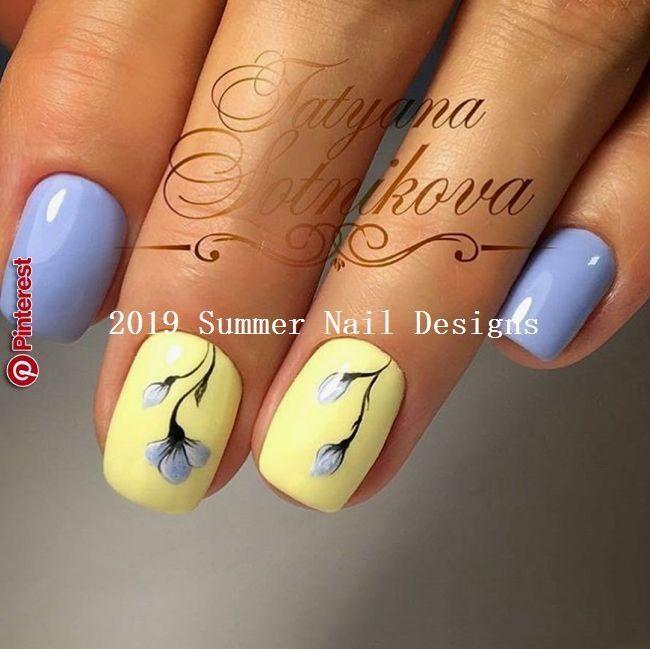 33 Idees Mignonnes De Design Pour Les Ongles D 39 Ete 2019 Summernaildesigns Design Idees Mignonnes Ongles S Ongles Jaunes Ongles Vernis Ongles Violets