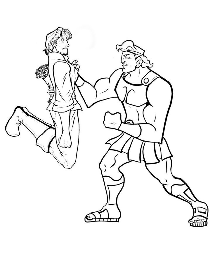 22 best Hercules Coloring Pages images on Pinterest | Disney ...