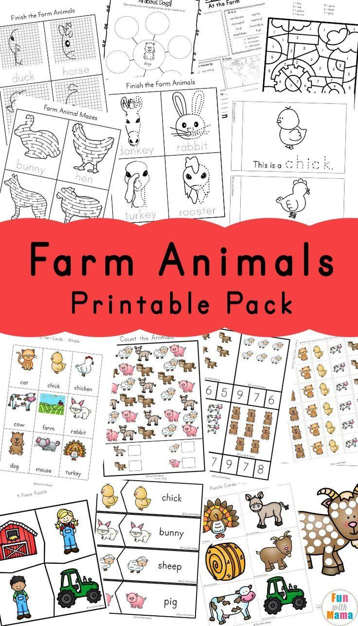 Farm Animal Activities For Preschoolers Fun With Mama Farm Animals Preschool Farm Theme Preschool Farm Animals Activities [ 1288 x 736 Pixel ]