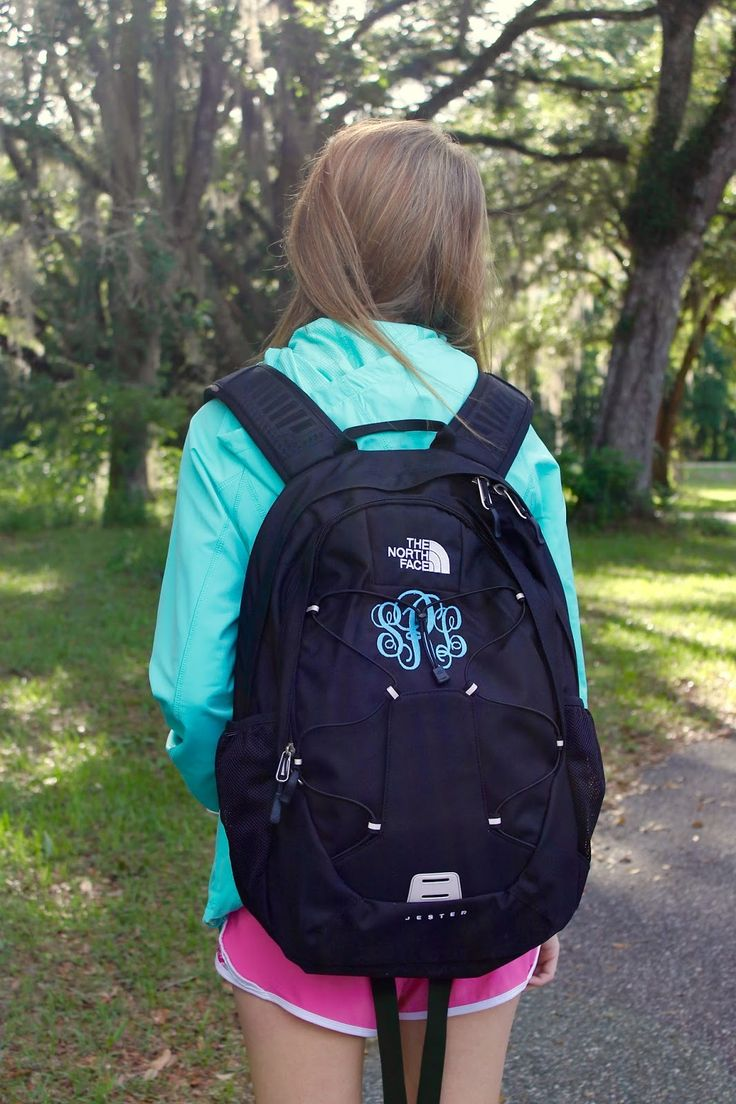monogrammed north face backpack - Google Search