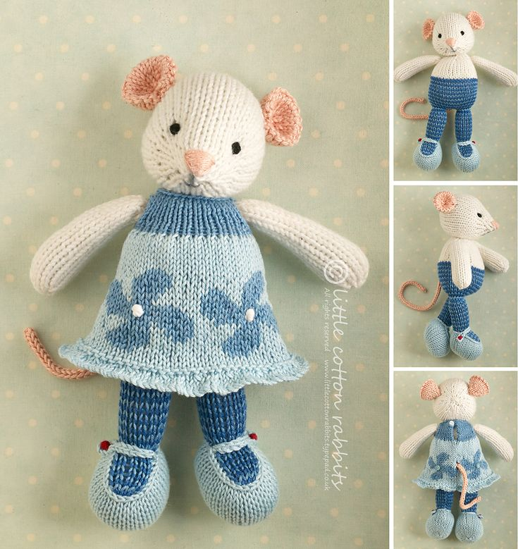 Ravelry: Girl mouse in a flowered dress pattern by Julie Williams