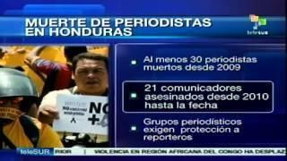 Muerte de periodistas en #Honduras desde el golpe de 2009