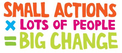 Small actions x lots of people = ? #socialgood #philanthropy #change @good