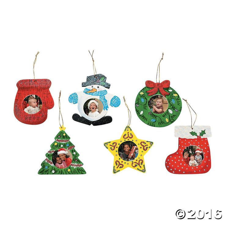 Unfinished Wood Picture Frame Christmas Ornaments. Paint these ornaments then show off a favorite photograph inside each one of these do it yourself Christmas ...
