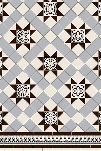 Blenheim 3 colour Tile Pattern