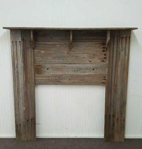 Old Barnwood Primitive Fireplace Mantle