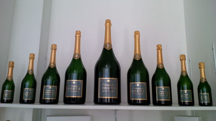 Deutz Champagne Bottle sizes
