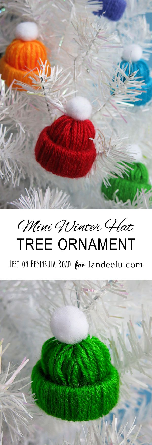 Make Mini Winter Hats to hang on your Christmas tree.