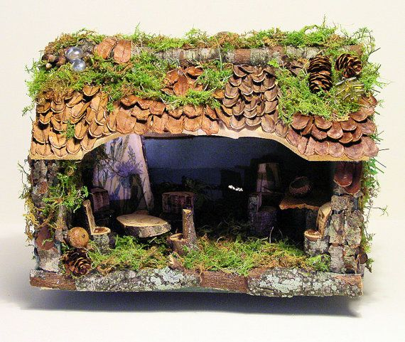 Woodland Fairy House by betweentheweeds on etsy