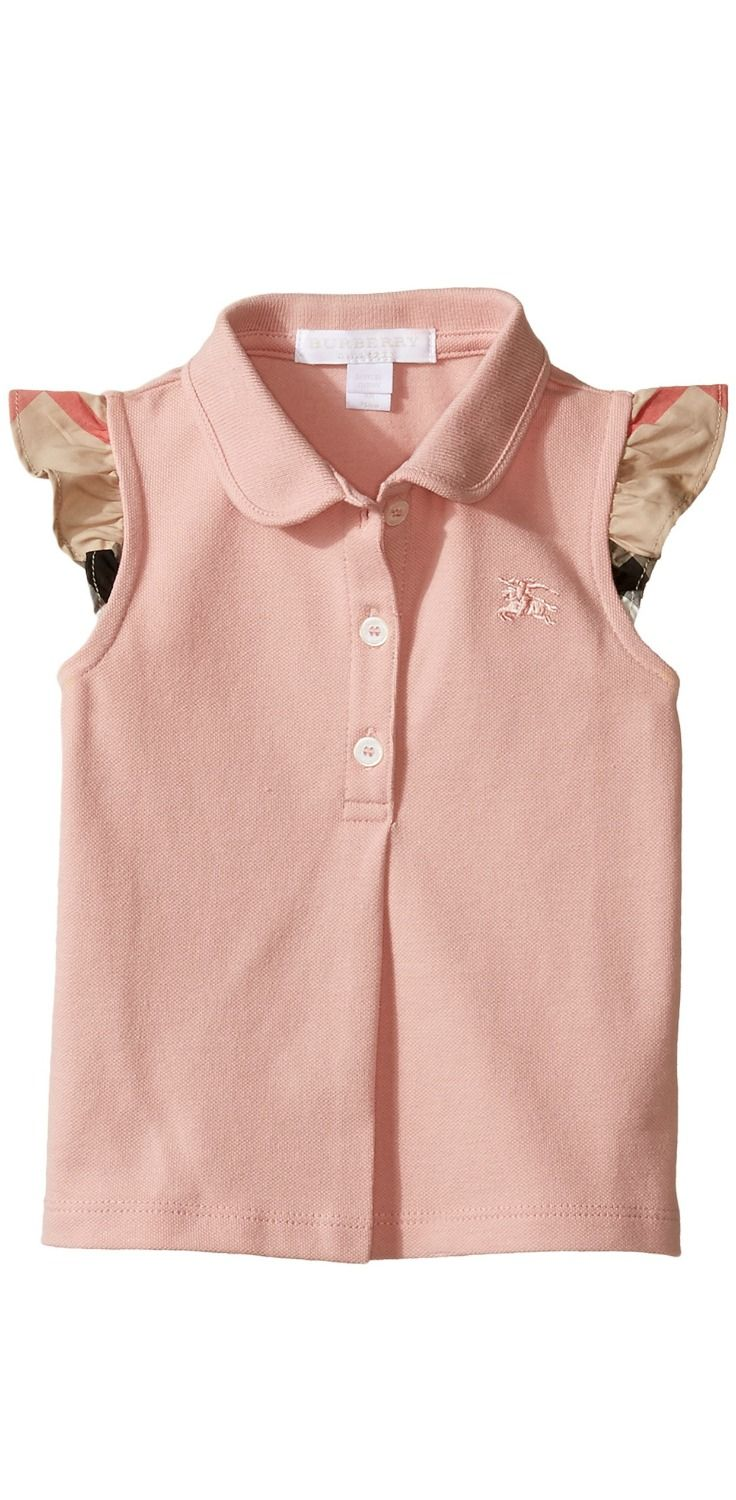 Beautiful moments.  Grace your girl with the sweet treat of the #Burberry #Kids #Mini Tia #Polo.  #girls #child #children #childrenswear #tops #apparel #clothing