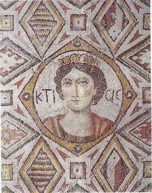 Mosaic of the goddess Ktisis,from the Byzantine Palace found at Edessa