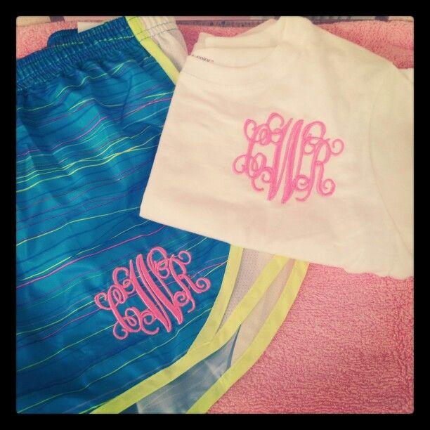 Girls Monogrammed Shirt Amp Short Set Monogram Shirts
