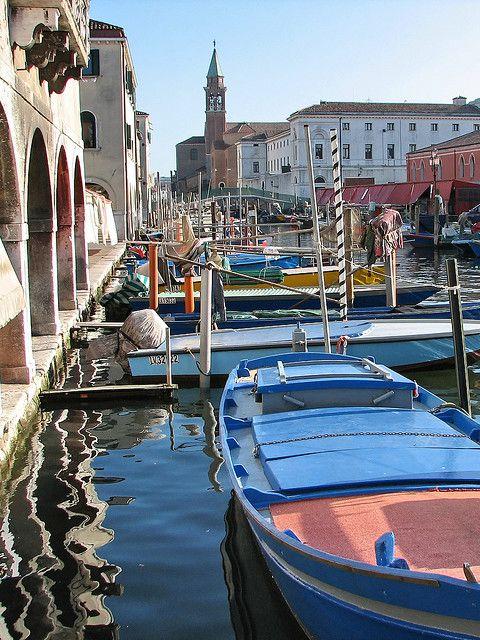 Canal de Chioggia, Veneto, Italy province of Venice