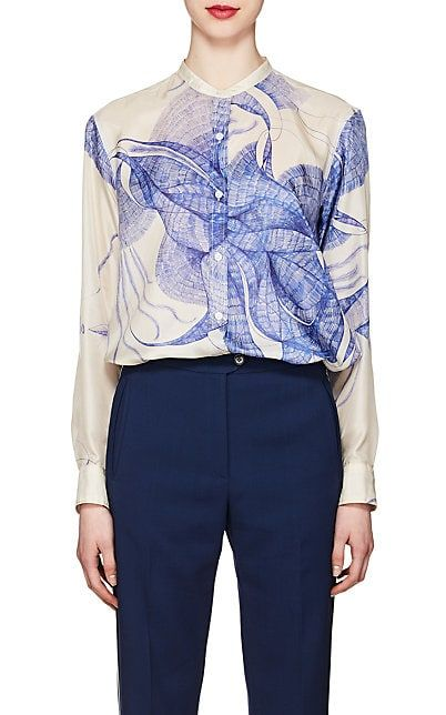 2c3f8c2aecc03a We Adore  The Sketch-Print Silk Blouse from Dries Van Noten at Barneys New  York