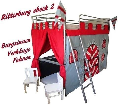 Castillo de los caballeros cama alta para sí mismo coser ♥ almenas, cortinas y banderas ♥ ♥ coser y patrón de libros electrónicos en 2 Makerist