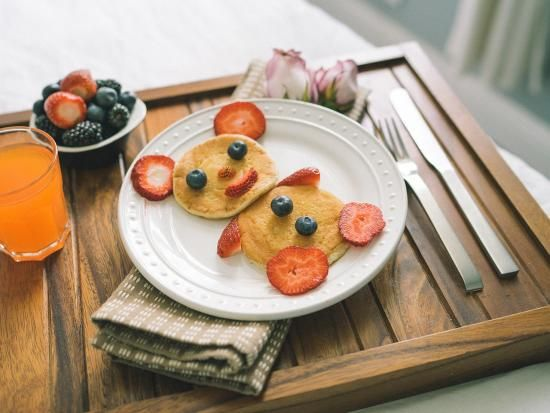 Animal Pancakes - Treat mom with a customized breakfast in bed for Mother's Day, or really any day. I know my mom would like that! And with a little imagination, you can turn an ordinary breakfast into a creative masterpiece! Using some fresh fruits and pancakes, you can create plates of animal-shaped pancakes for the mom and the rest of the family. These treats are bound to brighten the day!
