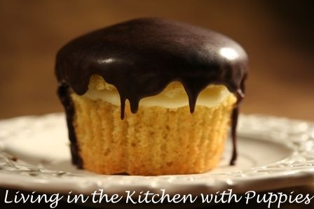 Living in the Kitchen with Puppies: Boston Cream Cakes from Lidia's Italy in America!