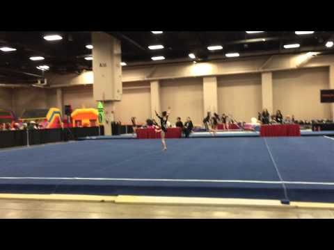 Level 6 gymnastics floor routine. 9.700 first place 01/17/2015 - YouTube