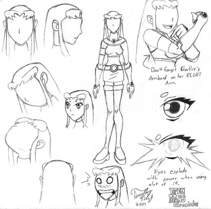 Draw Teen Titans Starfire