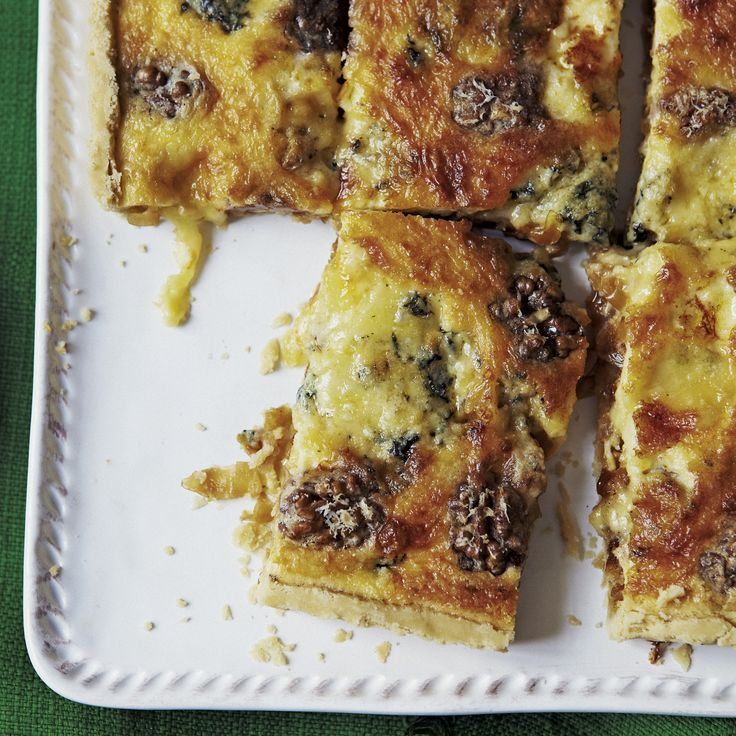 Blue cheese and caramelised onion tart has a beautiful contrast of flavours and is ideal for a picnic lunch with some salad