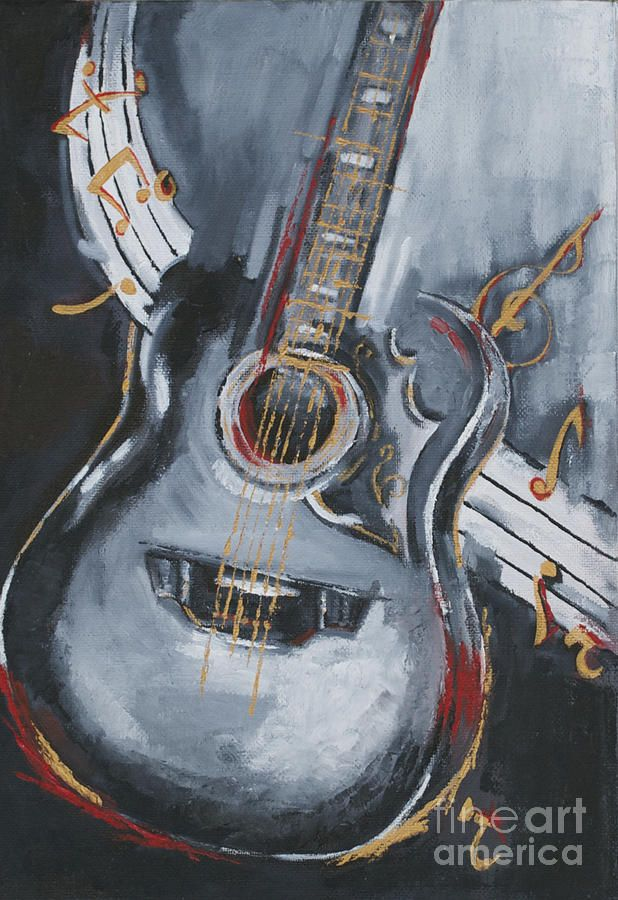 Abstract Guitar painting | Guitar Painting by Kanchan Mehendale - Guitar Fine Art Prints and ...
