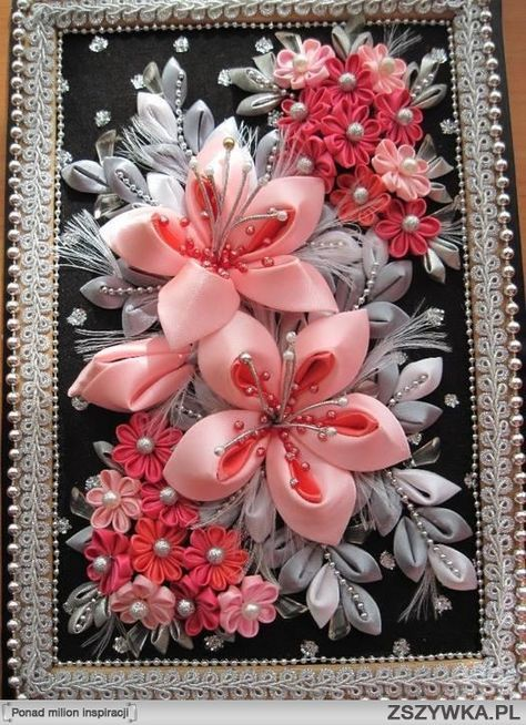 how to attach kanzashi to a comb - Google Search