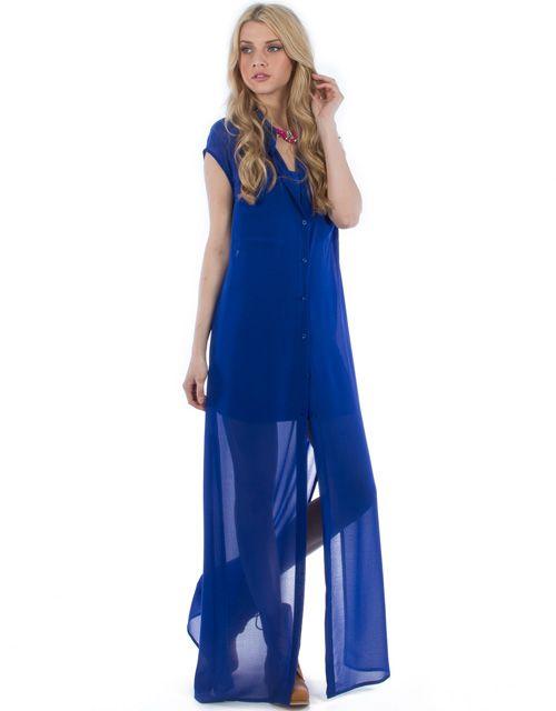 Maxi φόρεμα από μουσελίνα | Toi&moi THE e-FASHION STORE