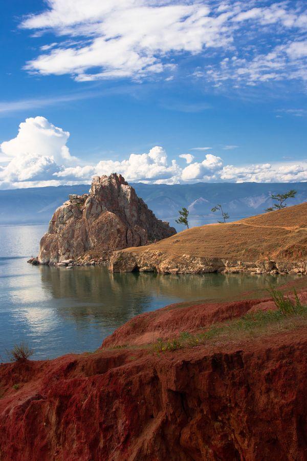Shaman Rock, Lake Baikal, Siberia, Russia. Photo by Pavel Klimkin.