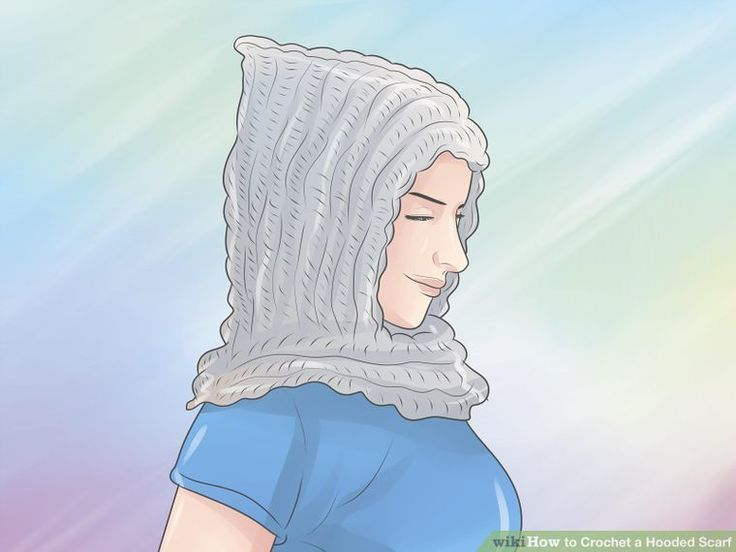 3 Ways to Crochet a Hooded Scarf - wikiHow