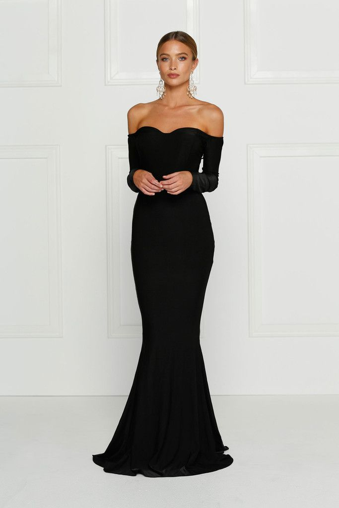Alamour The Label Salma Off Shoulder Gown find it and other fashion trends. Online shopping for Alamour The Label clothing. Embrace your womaly figure and...