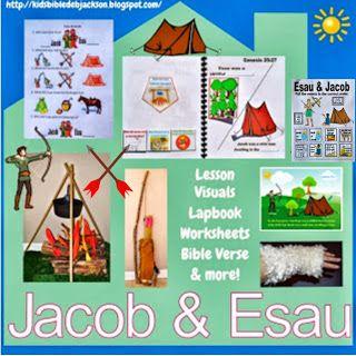 Jacob & Esau Lesson plan & #freeprintable #biblelessonsforkids